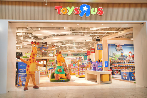 """New Toys""""R""""Us store opens at Garden State Plaza in Paramus, New Jersey."""