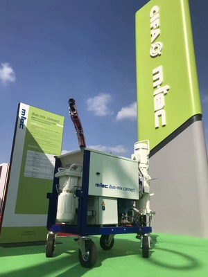 Zoomlion Unveils its Latest Mortar Mixer Duo-mix Specialised for 3D Construction Printing