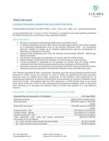 Lucara Provides Operating Outlook for 2020 (CNW Group/Lucara Diamond Corp.)