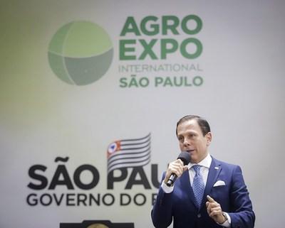 O Governador de São Paulo João Doria em lançamento do Agro Expo International (Crédito: Daniel Guimarães)