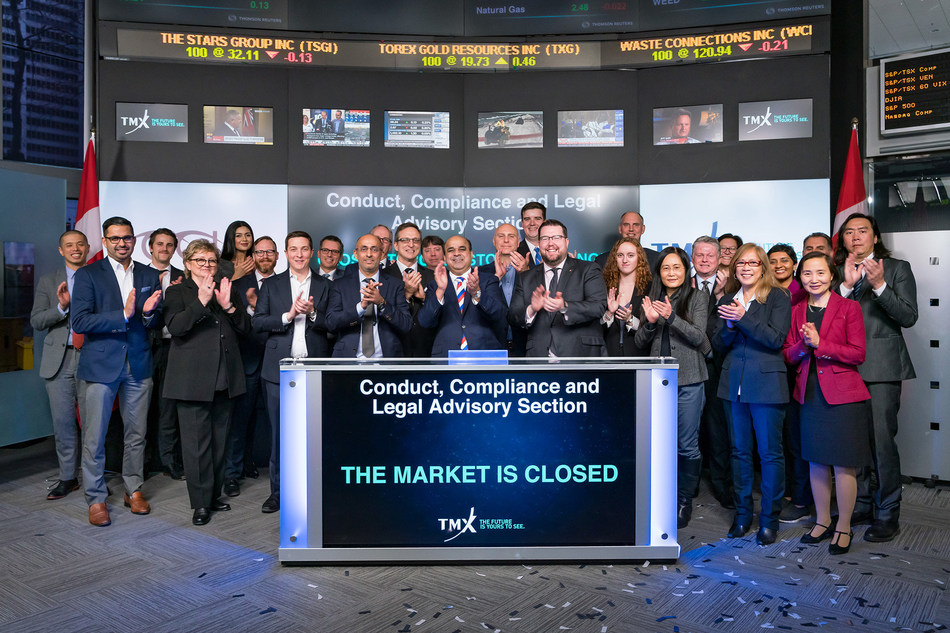 Conduct, Compliance and Legal Advisory Section Closes the Market (CNW Group/TMX Group Limited)
