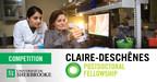 Claire-Deschênes Postdoctoral Fellowship Competition - Win a fellowship, get a faculty position!