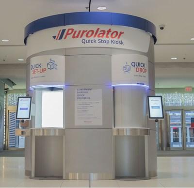 Le tout premier kiosque d'arrêt rapide de Purolator au CF Toronto Eaton Centre permet aux clients d'acheter leurs cadeaux et de les expédier à un seul endroit. (Groupe CNW/Purolator Inc.)