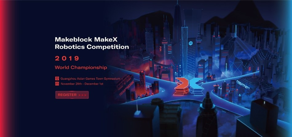 Official poster of MakeX Robotics Competition