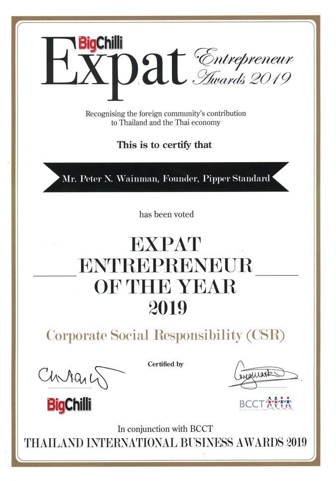 Expat Entrepreneur of the Year