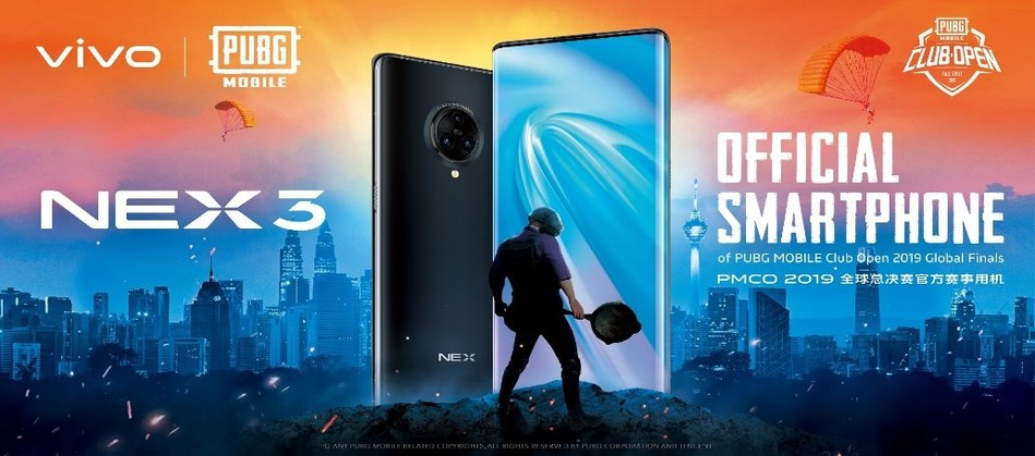 vivo was the official title sponsor for the PUBG MOBILE Club Open 2019 Fall Split Global Finals
