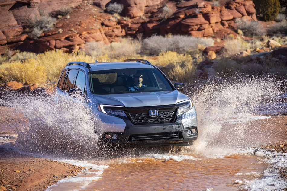The 2020 Honda Passport begins arriving at dealerships today, offering customers an exceptional combination of on-road sophistication, class-leading cargo and passenger space, and robust off-road capability. With spacious seating for five adults, standard i-VTEC® V6 power, and standard Honda Sensing® safety and driver-assistive technologies, the 2020 Passport Sport with 2-wheel-drive starts at $31,990 (excluding $1,095 destination and handling).
