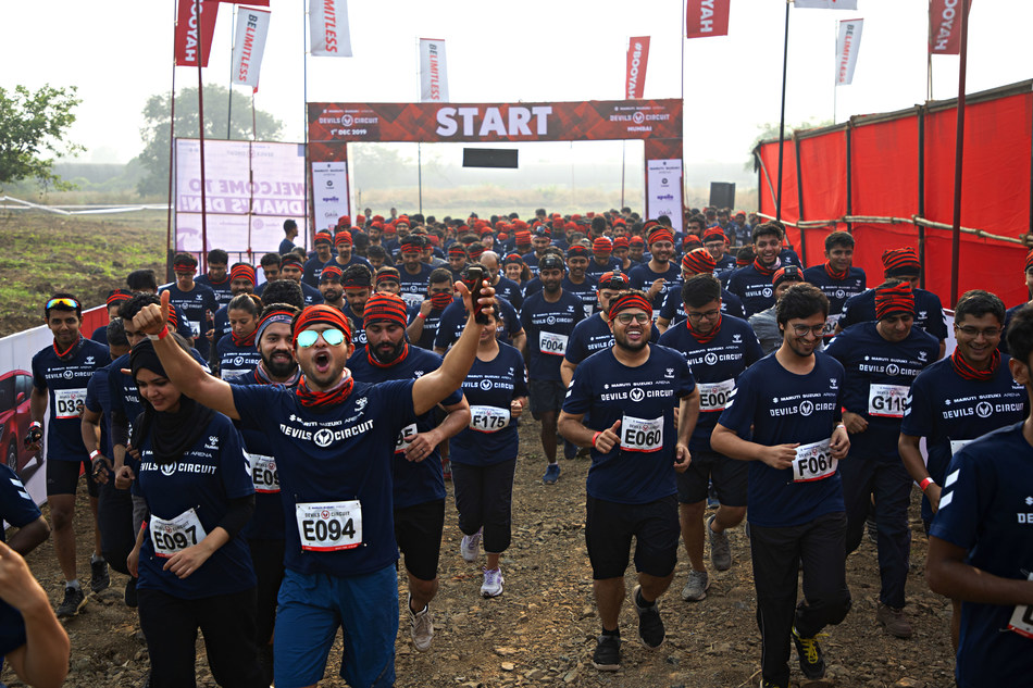 One of the many waves of runners at the 5th Mumbai edition of the Maruti Suzuki Arena Devils Circuit