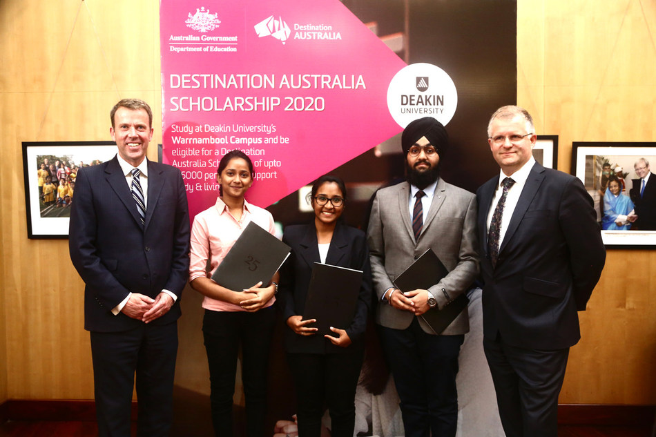 Indian students receive the Destination Australia Scholarship 2020