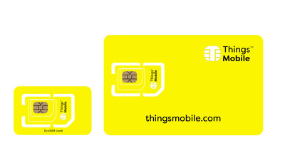 """The """"Eco-SIM Card"""" Is Born: The Environment-friendly SIM Card for IoT and M2M That Does Not Waste Plastic. Devices Connected With the Card for IoT and M2M Are Driving the Revolution in the Home Automation, Industry 4.0, Telemedicine, Smart City, Bike Sharing and Photovoltaic Sectors. As Stated by CEO Manuel Zanella: """"We Manage This Way, to Save 80% of Plastic, 13 Tons in 3 Years, and Re! duce Co2 Emissions Equal to 8,000 Kg."""" (PRNewsfoto/Things Mobile)"""