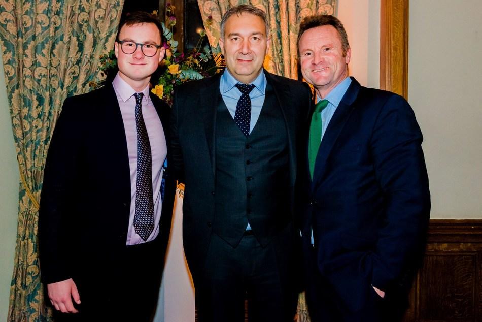 Miles Herne, Dmitry Leus and Mark Herne (PRNewsfoto/St George's Hospital Charity)