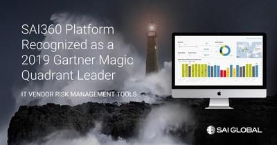 SAI360 Software Platform Named a Leader in 2019 Gartner Magic Quadrant for IT Vendor Risk Management Tools