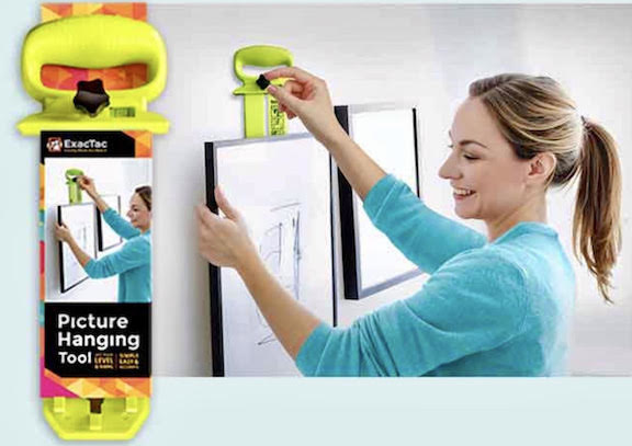 Home Decorating for Christmas is Much Easier with the New ExacTac Picture Hanging Tool