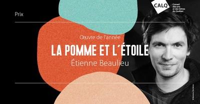 Étienne Beaulieu, lauréat du prix du CALQ - Oeuvre de l