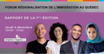 Présentation de dix pistes d'action pour la régionalisation de l'immigration (Groupe CNW/Emplois en régions)
