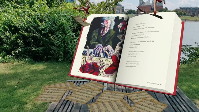 Desdemona's Dreams App shows the first book in the series in full 3D rendition for a fully immersive augmented reality experience.