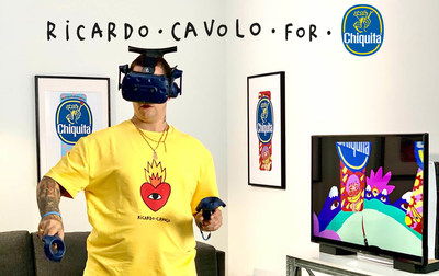 Ricardo Cavolo utilized Google Tilt Brush, a virtual reality (VR) app to generate the stickers in 3D.