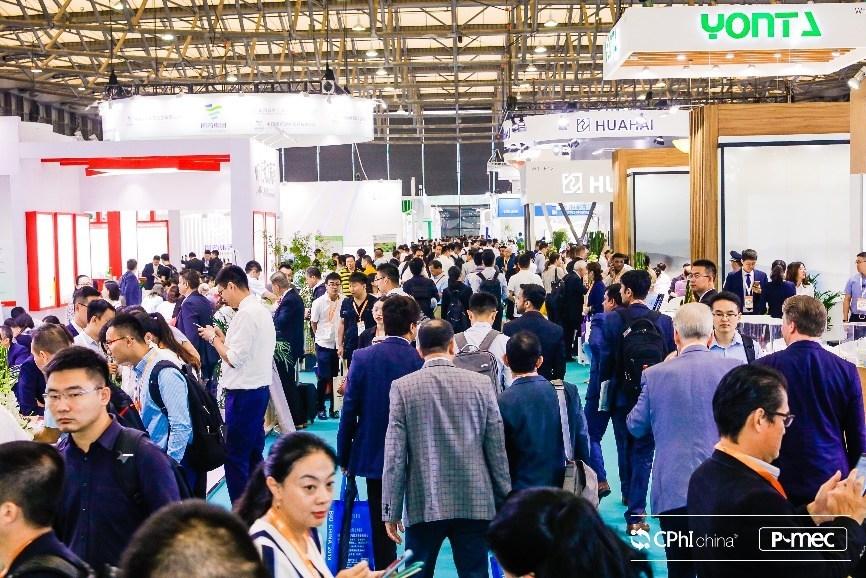 At the scene of the exhibition (PRNewsfoto/CPhI China)