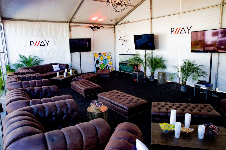 The PLLAY Lounge located in The Den of the Artist All Access area of Astroworld Festival