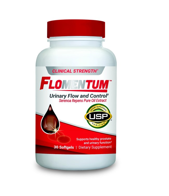Flomentum™, the first and only USP Verified prostate health supplement.