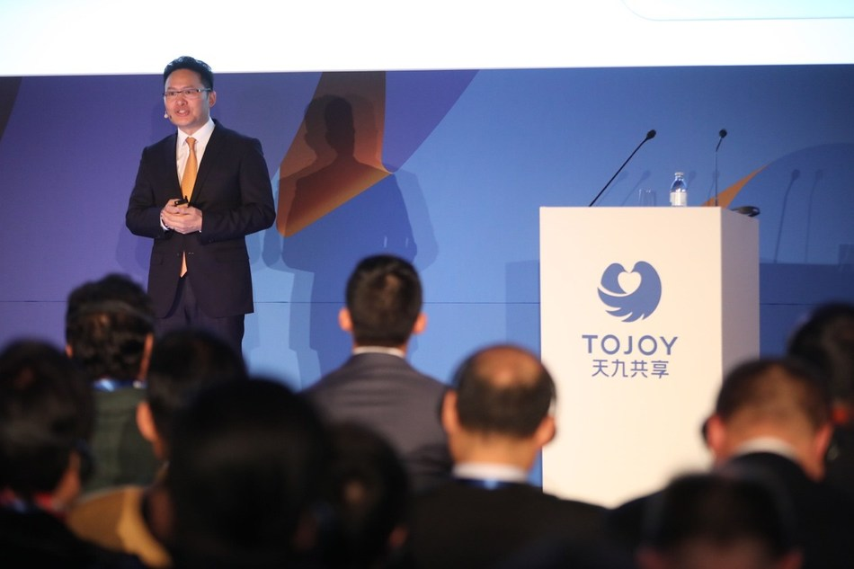 Ge Jun, ToJoy Global CEO, delivers a speech