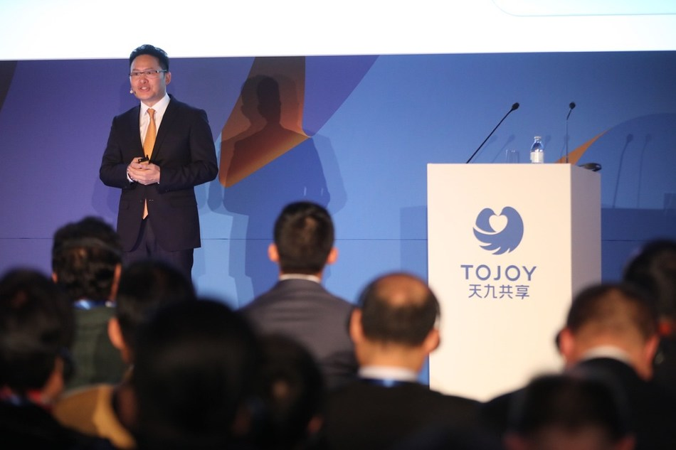 Ge Jun, ToJoy Global CEO, delivers a speech (PRNewsfoto/ToJoy Shared Holding Group Co.,)