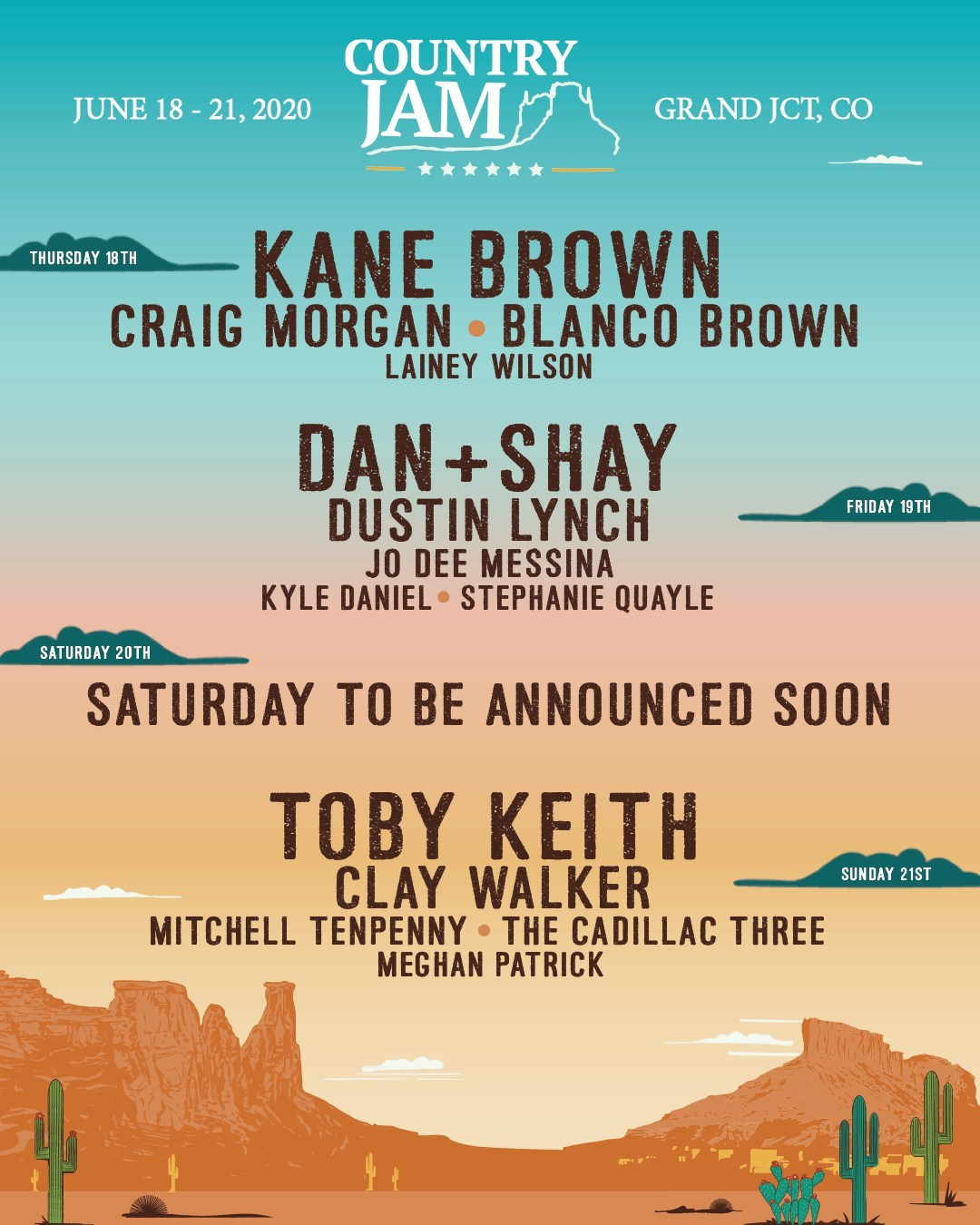country jam lineup 2020