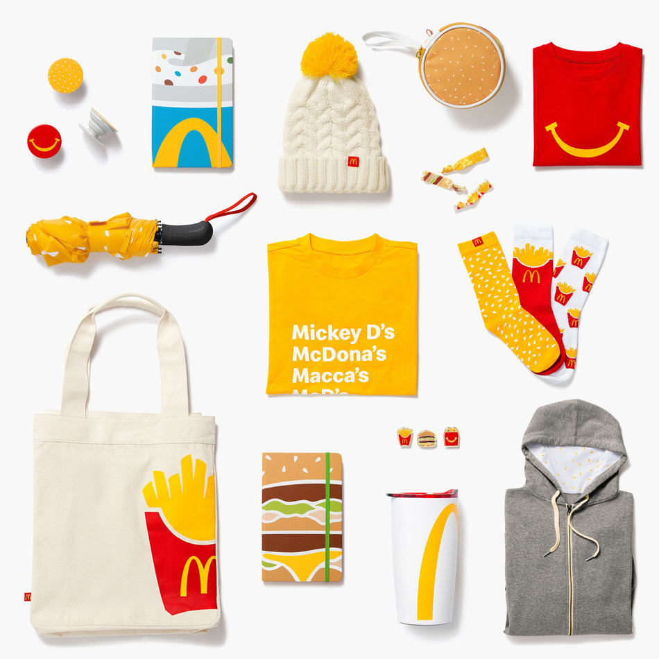 """McDonald's® unveils new online merchandise shop, """"Golden Arches Unlimited,"""" for Big Mac burger lovers, fry enthusiasts and more!"""