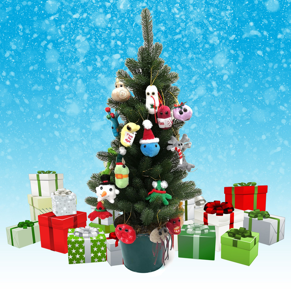 Decorate your tree with the flu, E.coli or herpes to spread awareness about health topics we all should be talking about.