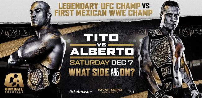 Tito Ortiz versus Alberto Del Rio in McAllen, Texas on Saturday, December 7