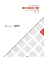 Canada Food Price Report 2020 (CNW Group/University of Guelph)