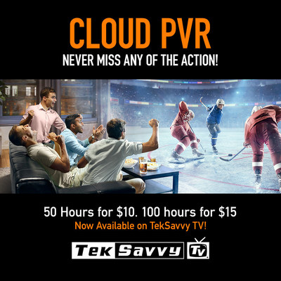 TekSavvy TV Cloud PVR works very much like a traditional Personal Video Recorder (PVR), only now TekSavvy TV Cloud PVR subscribers can store their recorded conten securely and privately in the TekSavvy TV Cloud. (CNW Group/TekSavvy Solutions Inc.)