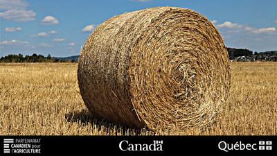 Près de 25 millions de dollars versés aux producteurs de foin dans le cadre du Programme d'assurance récolte. (Groupe CNW/La Financière agricole du Québec)