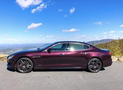 Maserati Quattroporte GTS in Rosso Folgore. photo credit Alex Giron