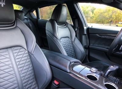 Interior of the Maserati Quattroporte GTS. photo credit Alex Giron