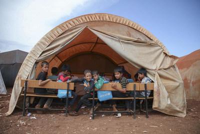 UNICEF: 59 millions d'enfants ont besoin d'aide dans les régions en crise. © UNICEF/UN0248353/Watad (Groupe CNW/UNICEF Canada)