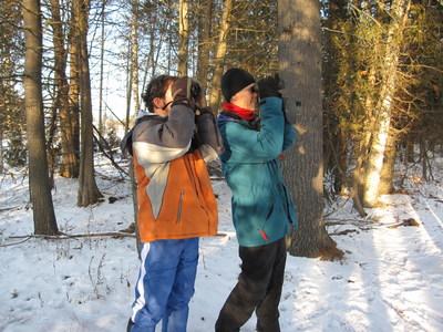 Pirmin (PJ) Jaeger & Chris Evans at the Brereton Field Naturalists Christmas Bird Count (CNW Group/Ontario Nature)