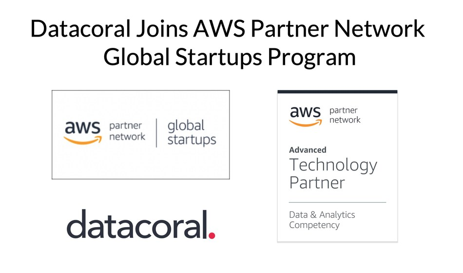 Datacoral Joins AWS Partner Network Global Startups Program