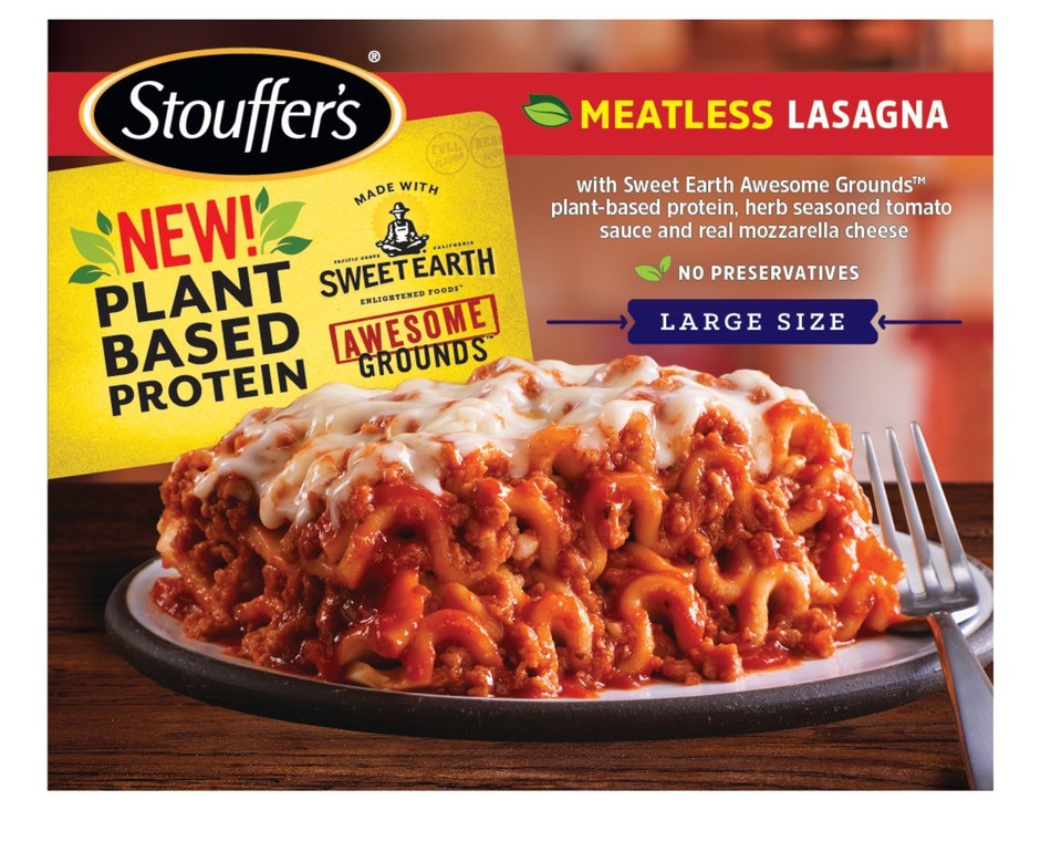 STOUFFER'S Meatless Lasagna with SWEET EARTH Awesome Grounds.
