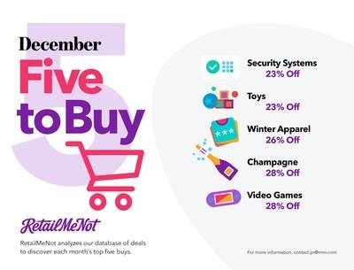 RetailMeNot's 5 to buy in December