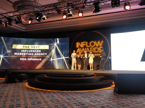 HireInfluence recognized as Best Influencer Marketing Agency of 2019 at INFLOW Global Summit