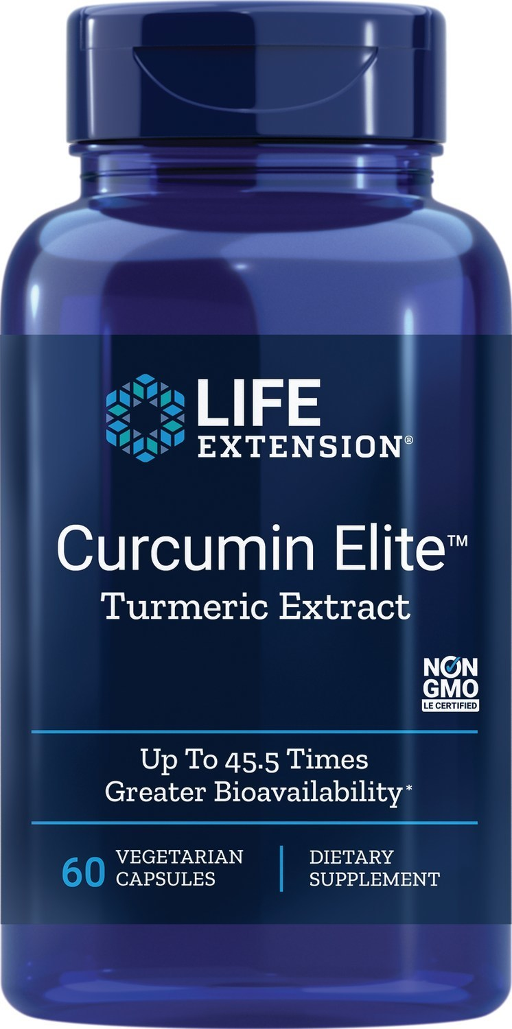 Health benefits of curcumin may be optimized with new ultra-absorbable turmeric extract from Life Extension.