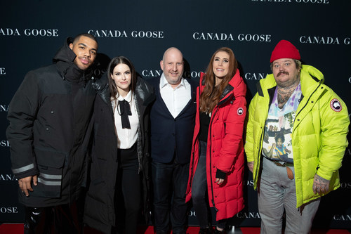 """Donté Colley, Emily Hampshire, Dani Reiss, Jessi Cruickshank and Matty Matheson celebrated the launch of Canada Goose's """"The Journey"""" in Toronto on December 4th (CNW Group/Canada Goose)"""