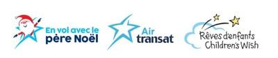 Logos : En vol avec le père Noël / Air Transat / Fondation Rêves d'enfants (Groupe CNW/Transat A.T. Inc.)