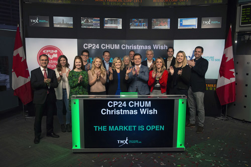 CP24 CHUM Christmas Wish Opens the Market (CNW Group/TMX Group Limited)