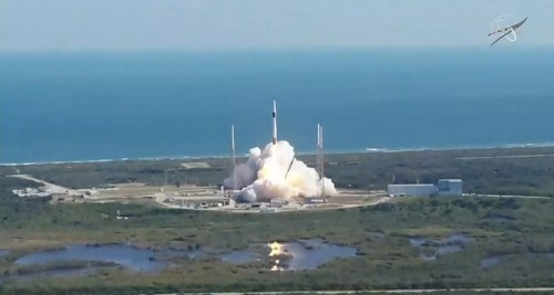 SpaceX launches its 19th cargo resupply mission to the International Space Station at 12:29 p.m. EST Dec. 5, 2019, from Space Launch Complex 40 at Cape Canaveral Air Force Station in Florida. Credit: NASA TV