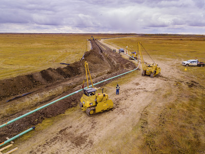The Viking Connector is a 75-kilometer pipeline that will connect Inter Pipeline's Throne Station on the Bow River pipeline system to the Central Alberta pipeline system in the Stettler area. This project is expected to add an additional 10,000 to 15,000 b/d of throughput volume to the Central Alberta system. (CNW Group/Inter Pipeline Ltd.)