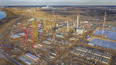 Inter Pipeline's 2020 capital budget will focus largely on continued progress at the Heartland Petrochemical Complex, which is over half way complete. (CNW Group/Inter Pipeline Ltd.)