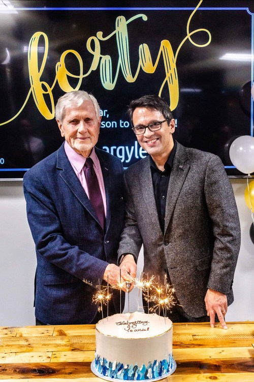Argyle founder Ray Argyle and Argyle CEO Daniel Tisch celebrate 40 years in business this week (CNW Group/Argyle Public Relationships)