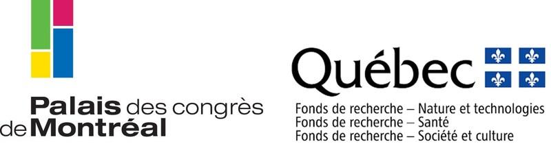 Logos: Palais des congrès de Montréal and Fonds de recherche du Québec (FRQ) (CNW Group/Palais des congrès de Montréal)